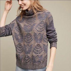 Anthropologie FOLK Stitched Foliage sweater